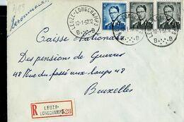 Doc. De LEUZE - LONGCHAMPS - B B - Du 12/01/57 En Rec. ( E ) - Marcophilie