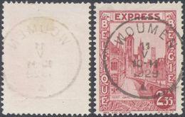 """Expres - N°292D Obl Simple Cercle """"Woumen"""" (1929) - Belgien"""