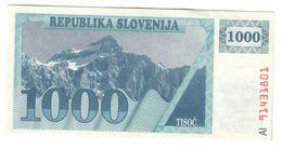 Slovenia 1000 Tolarjev 1991 XF/AUNC *V2* - Slowenien