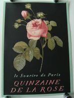 Affiche Quinzaine De La Rose Le Sourire De Paris Années 50 Vintage Rétro Passy - Affiches
