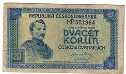 Czechoslovakia 20 Korun 1945  *V2* - Czechoslovakia