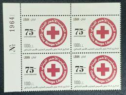 Lebanon 2020 New MNH Stamp - 75th Anniv Of Lebanese Red Cross & Coronavirus Covid-19 Crisis - Corner Blk-4 W/ Number - Libanon
