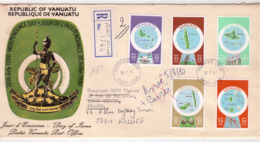 OCEANIE - VANUATU - FDC - Lettre Recommandée - Jour De Indépendance - Timbres Cartes Des Iles - Port Vila 30-7-1980 - Vanuatu (1980-...)