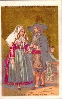 1898 Mariés De Kerlouan (publicité Salmon Nantes Chocolat) - Kerlouan