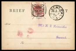 1889, Oranjefreistaat Marken Für Postkarten, Po 1, Brief - Sellos