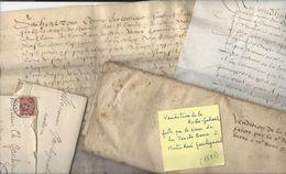 CLESSE La Roche Gabard - Achat Par René Gaschignard  3 Parchemins 1581 / 1583 Thouars + 2 Lettres 1906 Nantes - Documents Historiques