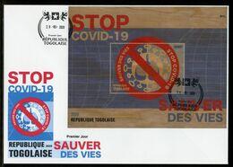 Togo 2020, Anti Covid-19, Wood BF In FDC - Medicine