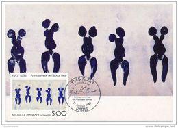 France Carte Maximum 1989 Yves Klein - 1980-89