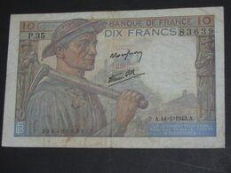 10 Dix Francs MINEUR  14=1=1943   **** EN ACHAT IMMEDIAT **** - 1871-1952 Circulated During XXth