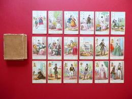 18 Carte Predizione Del Destino Litografie Acquerellate 1870 Ca. Non Completo - Vecchi Documenti