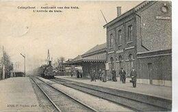 ST/19//   Kalmthout          Aankomst Van De Trein     1908      PRACHTIG BEELD !!!! - Belgien