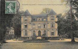 NOGENT SUR OISE - Château De La Vallée - Façade Principale - Carte Toilée - Nogent Sur Oise