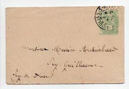 - Lettre MOULINS-SUR-ALLIER Pour PUY-GUILLAUME (Puy-de-Dôme) 21.12.1903 - 5 C. Vert Type Blanc - - Ganzsachen