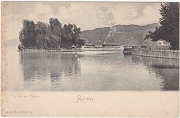 Haute Savoie : ANNECY : L'ile Des Cygnes ( Bateau à Définir ) - Précurseur - - Annecy