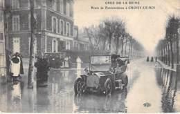 94 - CHOISY LE ROI ( Crue De La Seine ) Route De Fontainebleau - Automobile En Bon 1er Plan -  CPA Val De Marne - Choisy Le Roi