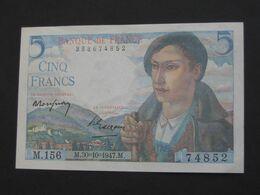 5 Francs  BERGER  30=10=1947   **** EN ACHAT IMMEDIAT ****   BILLET NEUF !!!!!!!!!!!!! - 5 F 1943-1947 ''Berger''