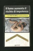 Tabacco Pacchetto Di Sigarette Italia - Malboro Gold N.1 Da 20 Pezzi - Tobacco-Tabac-Tabak-Tabaco - Etuis à Cigarettes Vides