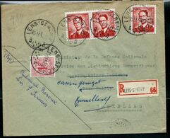 Doc. De LENS - ST REMY  - A A - Du 30/11/53  En Rec. ( E ) - Postmark Collection