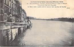 75 - PARIS 04 ° - INONDATIONS De PARIS ( Janvier 1910 )  Quai De Béthune ... Au Fond Pont De Sully ... - CPA - Seine - De Overstroming Van 1910