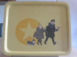 Plateau - Tintin , Le Capitaine Haddock Et Milou - Collection Guy Degrenne - Autres