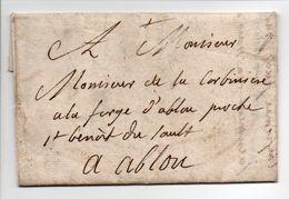- Lettre Pour LA FORGE D'ABLON Proche De Saint-Benoît-du-Sault 1763 - A ETUDIER - - Postmark Collection (Covers)