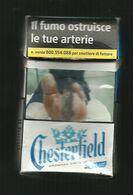 Tabacco Pacchetto Di Sigarette Italia - Chesterfield Blue 3 Da 20 Pezzi - Tobacco-Tabac-Tabak-Tabaco - Etuis à Cigarettes Vides