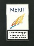 Tabacco Pacchetto Di Sigarette Italia - Merit 2 Da 20 Pezzi - Tobacco-Tabac-Tabak-Tabaco - Etuis à Cigarettes Vides
