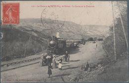 Le Chemin De Fer Du Puy De Dome , La Sortie De La Tranchée , Manque Coté Gauche Milieu  , Animée - Francia