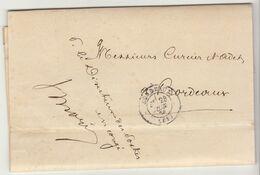 """LAC Bordeaux Franchise """"Directeur Des Postes..en Congé"""" 1870 / Réclamation Taxes Lettres (3 Scans) - 1849-1876: Periodo Classico"""