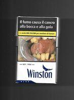 Tabacco Pacchetto Di Sigarette Italia - Winston Blue Da 20 Pezzi N. 08 - Tobacco-Tabac-Tabak-Tabaco - Empty Cigarettes Boxes