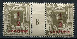 ALGERIE N°33 ** EN PAIRE MILLESIME 6 - Unused Stamps