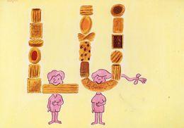 "AFFICHE LEFEVRE UTILE ""LU"" - Logo Biscuits Lu - Savignac 1984 - Pubblicitari"