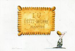 """AFFICHE LEFEVRE UTILE """"LU"""" - Le Clown FarfeLU - 1985 Par Desclozeaux - Pubblicitari"""