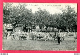 CPA (Réf : Y540)  «MILITARIA GUERRE 1914-1918» LABRUGUIÈRE (81 TARN) Parc Du Canon 75 à Notre-Dame (animée) - Weltkrieg 1914-18