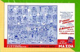 BUVARD & Blotter Paper  : Eclairage Pile HYDRA N°1.2.3.4.5  Signé DUBOUT - Batterie