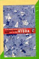 BUVARD & Blotter Paper  : Eclairage Pile HYDRA  Signé DUBOUT - Batterie
