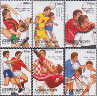 Aserbaidschan 328-333 (complete Issue) Unmounted Mint / Never Hinged 1996 Football - Aserbaidschan