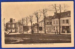 CPA 27 TOURNY (Eure) - Place De La Mairie Et Route De Vernon. - Sonstige Gemeinden