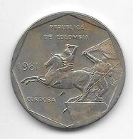 *colombia  10 Pesos  1981  Km 270 - Colombia