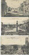 Gerbeviller   Guerre 1914-18   Lot De 3 Cartes - Gerbeviller
