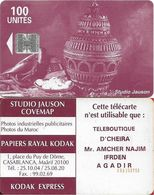 Morocco - Studio Jauson (Red) - Teleboutique D'Cheira, Mr. Amcher, Cn. C5Axxxxxx, 100Units, Used - Maroc