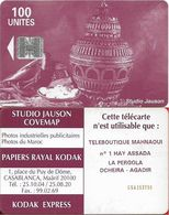 Morocco - Studio Jauson (Red) - Teleboutique Manhaoui, Cn. C5Axxxxxx, 100Units, Used - Maroc
