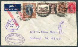 WW2 India Richards Brothers, Mangalore Censor (Karachi) - Oslo Norway. - 1936-47  George VI
