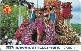 Hawaii - GTE - Tamura - Aloha Festival Week Parade 1991, 7Units, 6.500ex, Mint - Hawaï