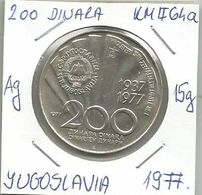 Gh3 Yugoslavia 200  Dinara 1977.  KM#64a  High Grade - Yugoslavia