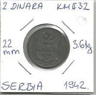 Gh3 Serbia 2 Dinara 1942. KM#32 - Serbia