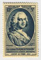 YT 940 (**) MNH Journée Du Timbre 1953 Comte D'Argenson (côte 4 Euros) – 0 Lot - Unused Stamps