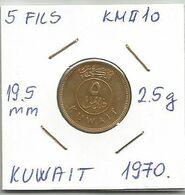 C1 Kuwait 5 Fils 1970. KM#10 - Kuwait
