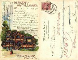 Norway Norge, BERGEN, Bergensudstillingen (1898) Carl Dotzler Postcard - Norvegia