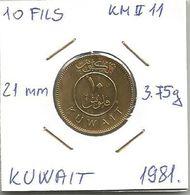 B4 Kuwait 10 Fils 1981. KM#11 - Kuwait